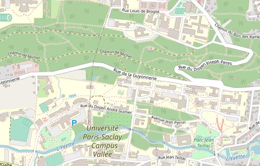 Carte du campus d'Orsay